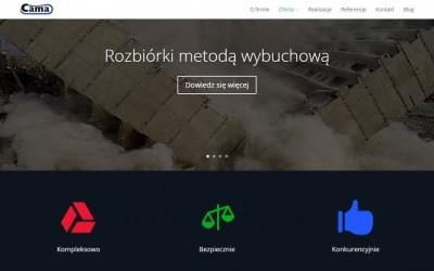 Nowa strona firmowa – cama.pl