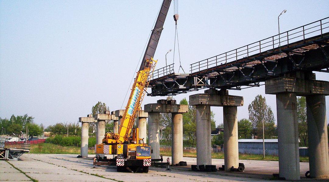 Rozbiórka mostu przeładowczego w Wieliczce