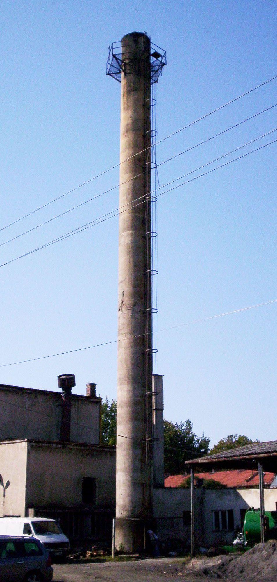 Widok komina w Czernichowie