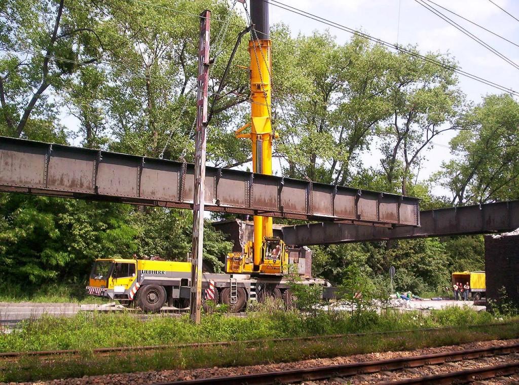 Rozbiórka wiaduktu nad DK88-Zabrze