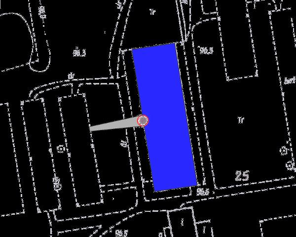 mapa sytuacyjne terenu rozbiórki komina