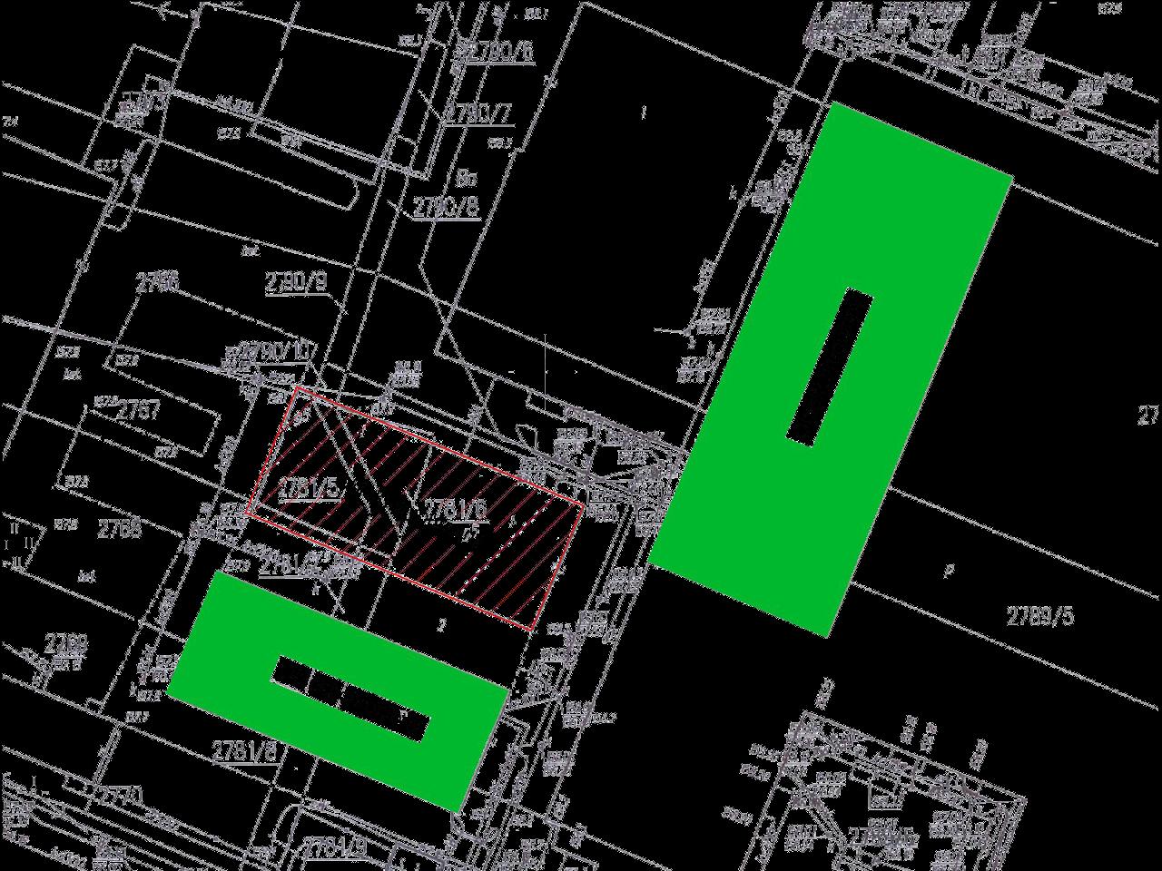 Mapa terenu rozbiórki budynku