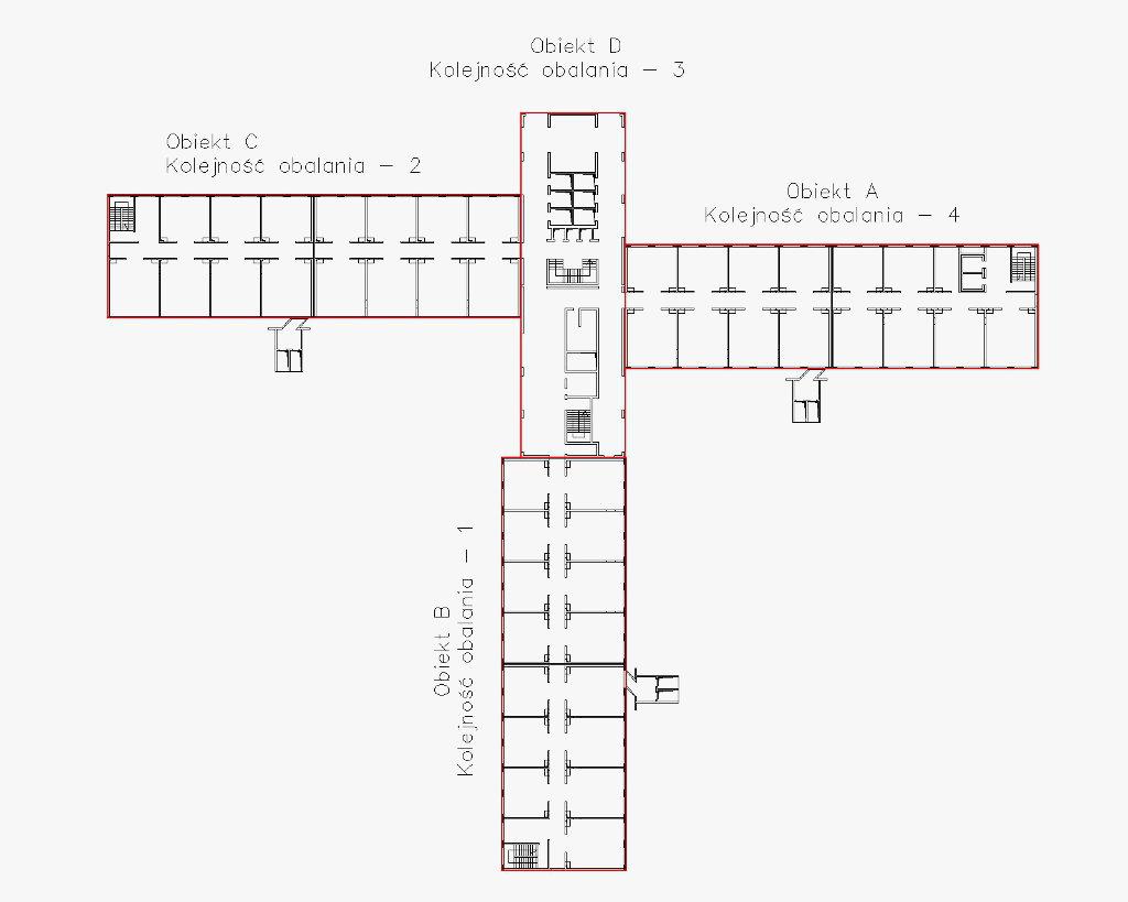 Schemat rozmieszczenia budynków ACM