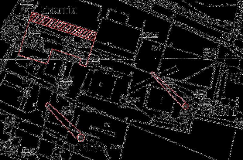 Plan sytuacyjny terenu wyburzeń