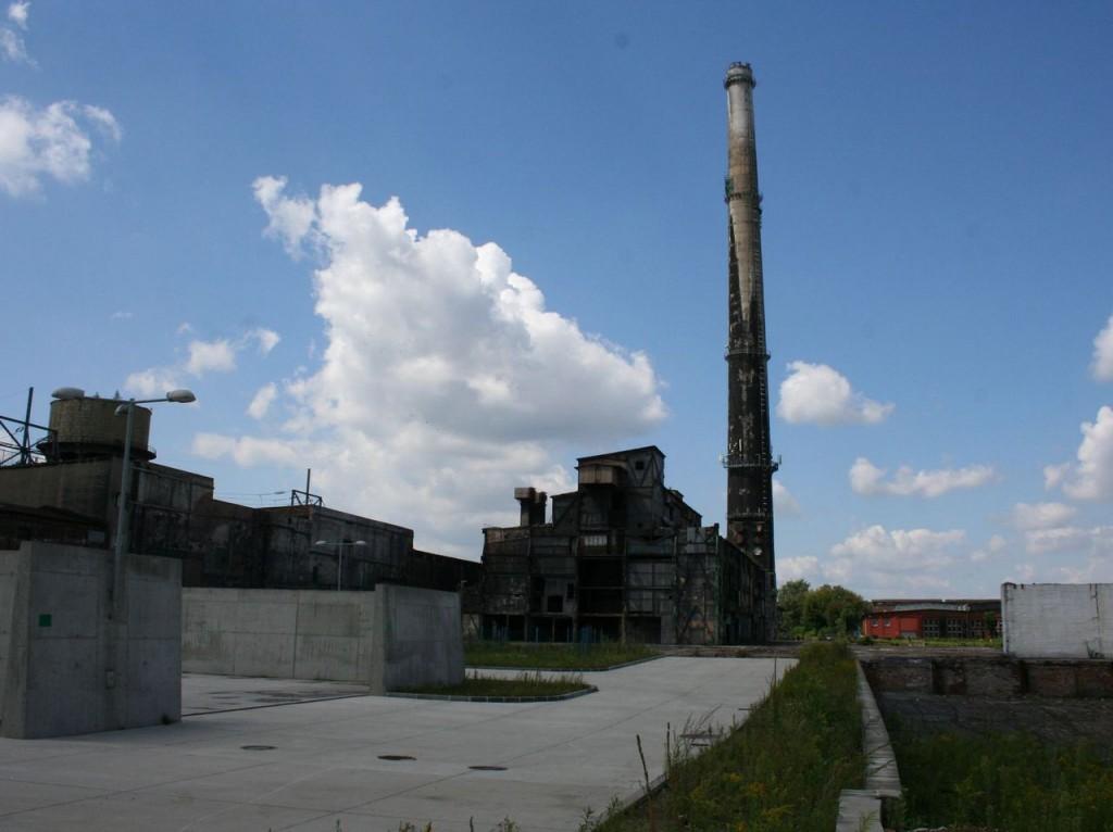 Wyburzenie komina karbidowni – Chorzów