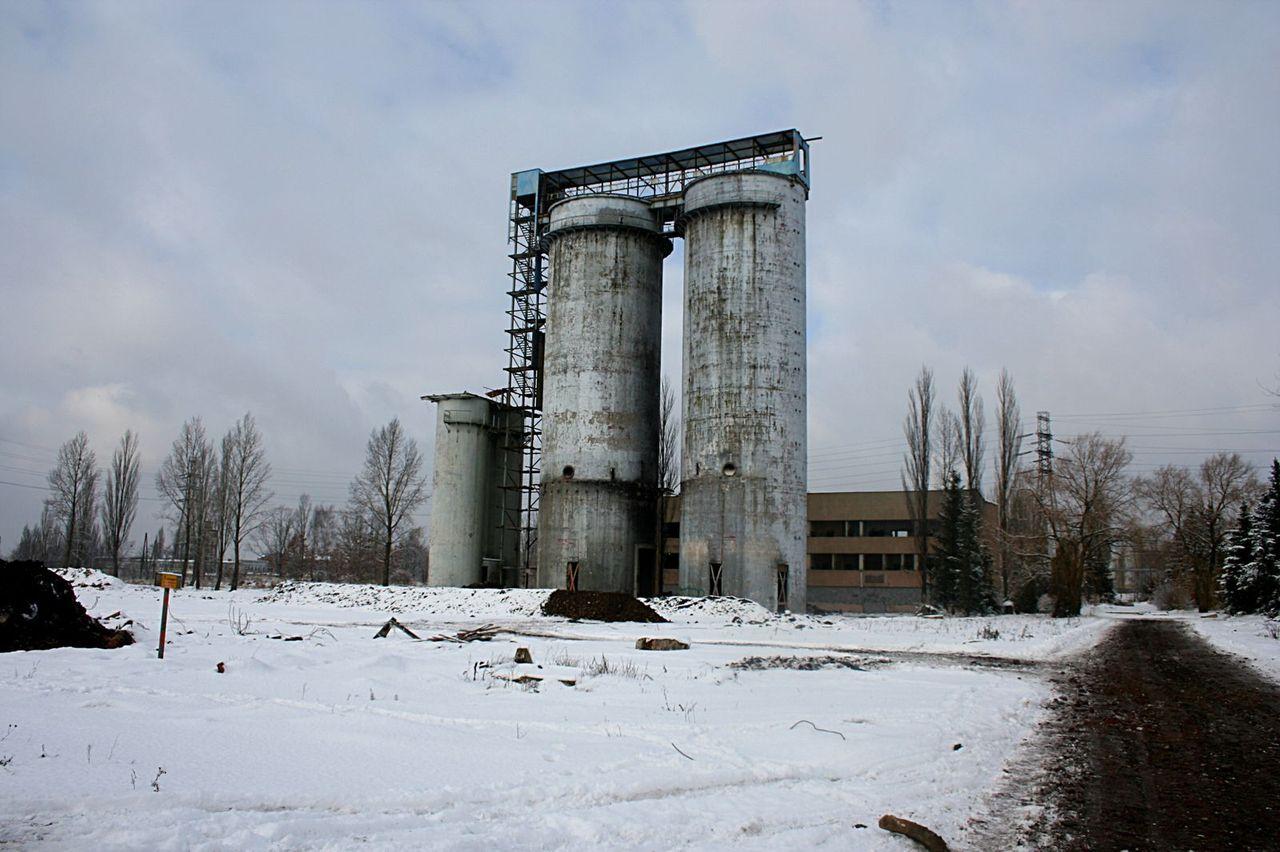 Silosy na terenie Wifama w Łodzi