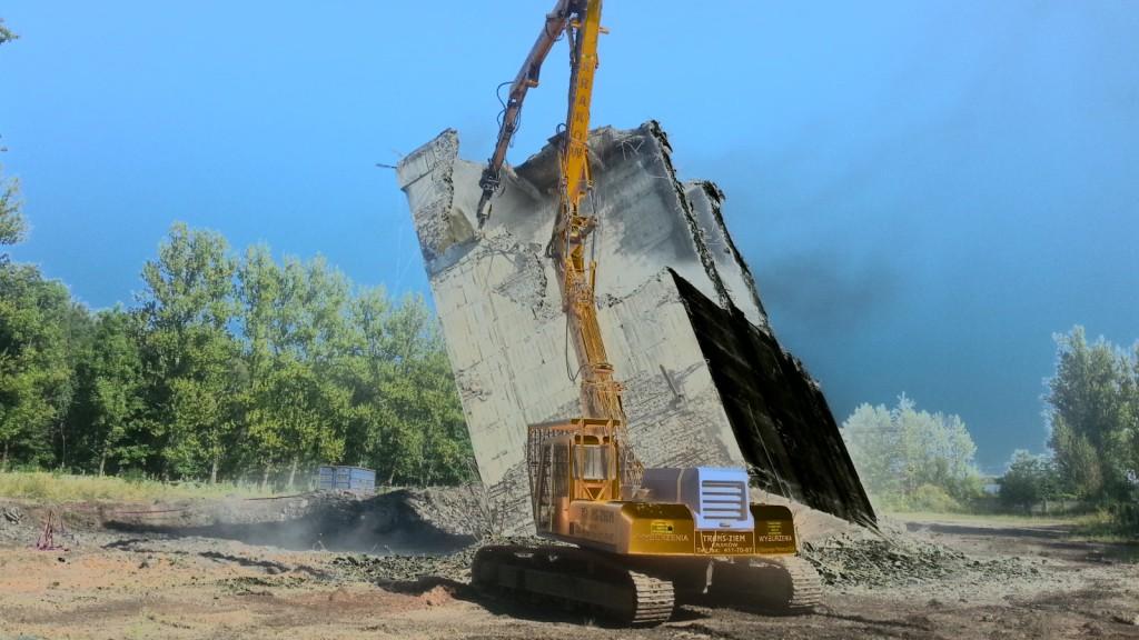 Rozbiórka żelbetowych zbiorników – Bytom