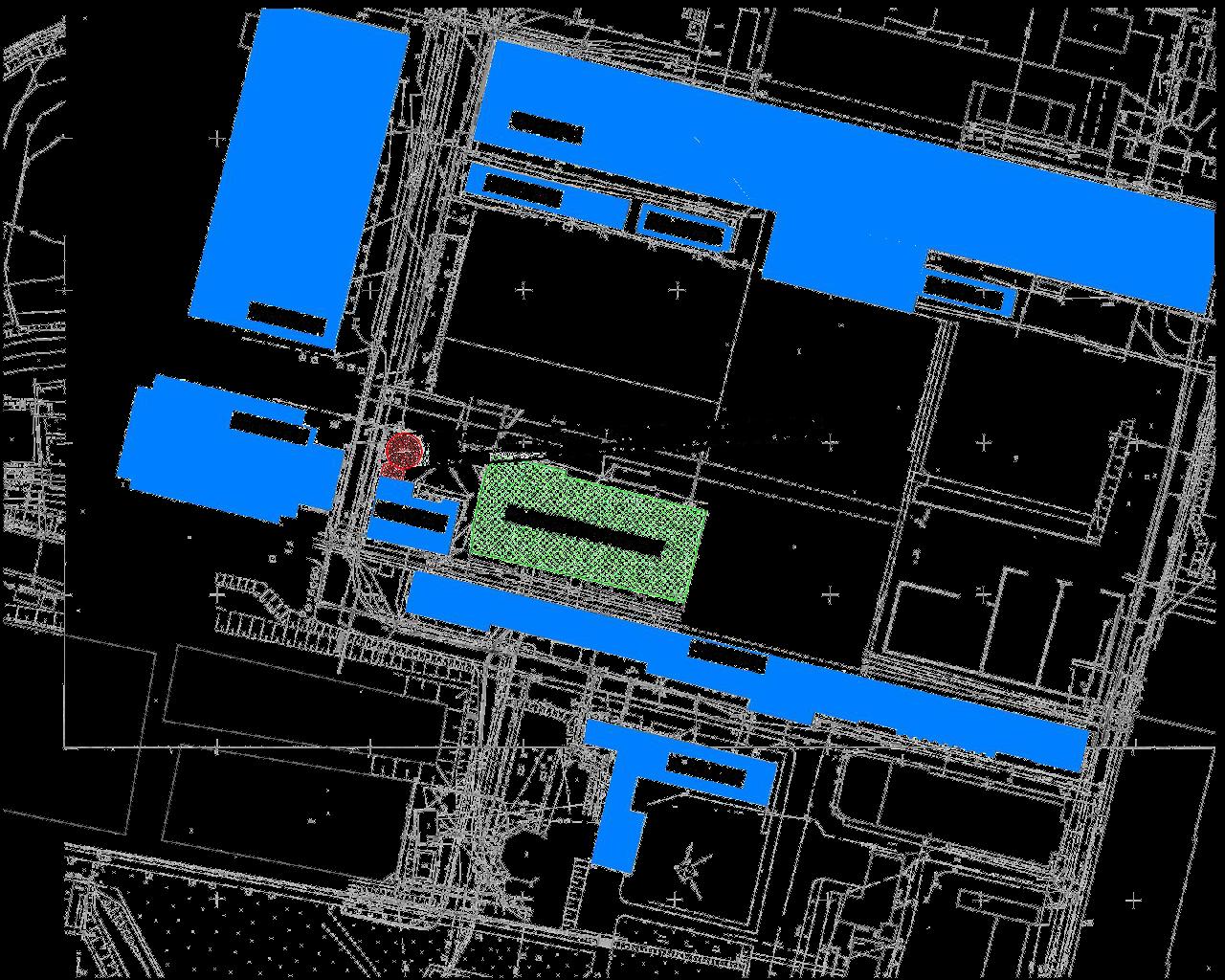 Mapa terenu wokół rozbiórki komina