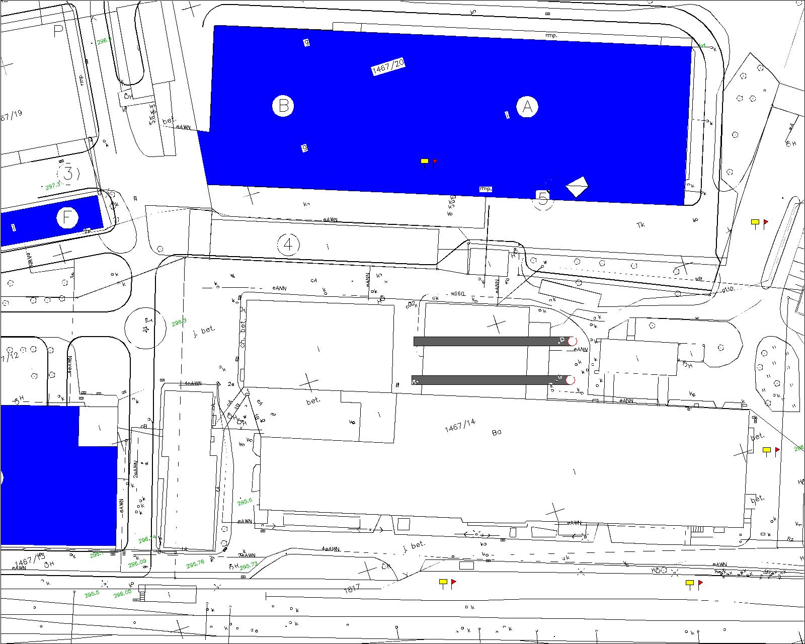 Plan sytuacyjny rozmieszczenia kominów